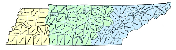 image of Tennessee map